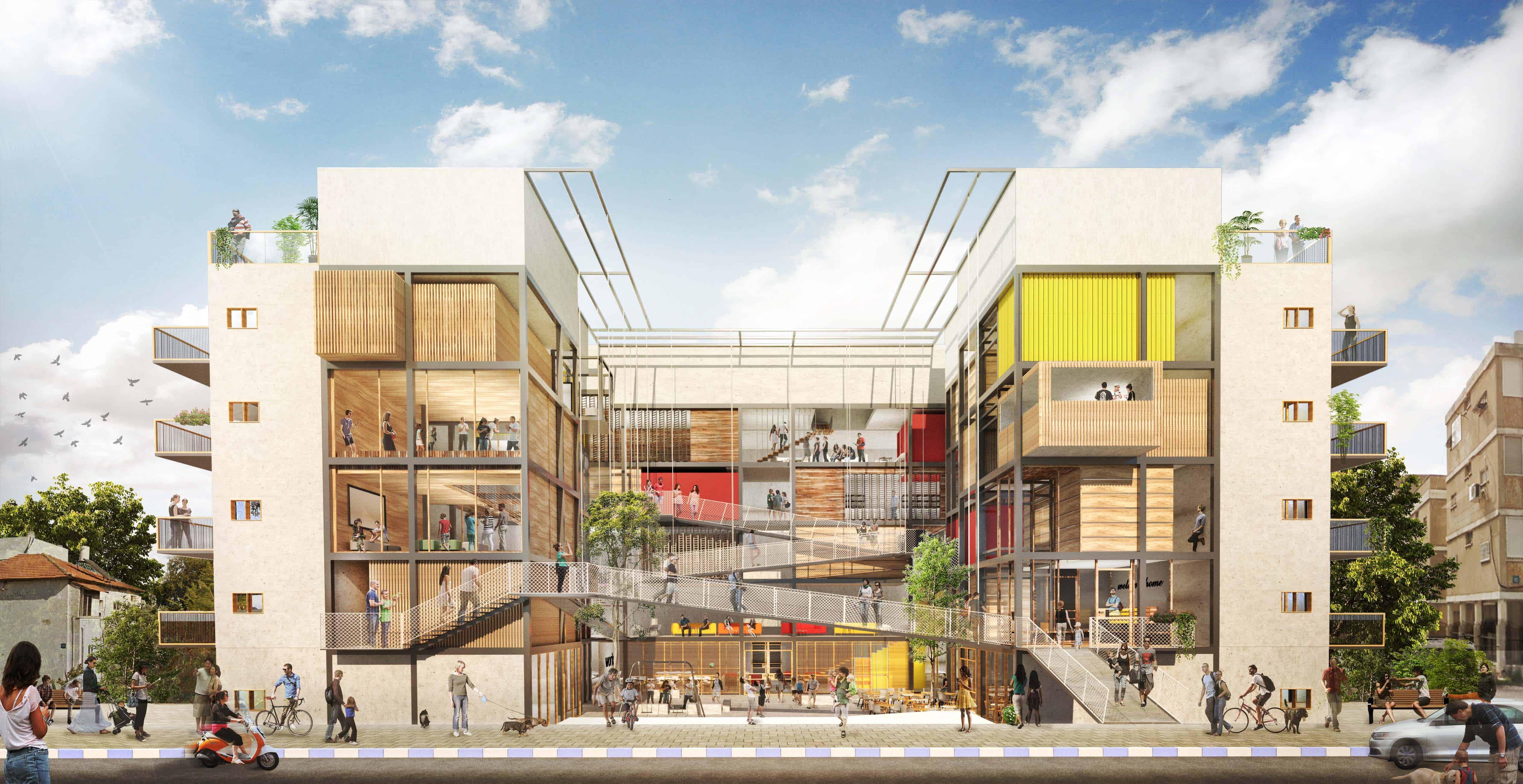 אורן פרל - בניין מגורים שיתופי בשכונת שפירא בתל אביב