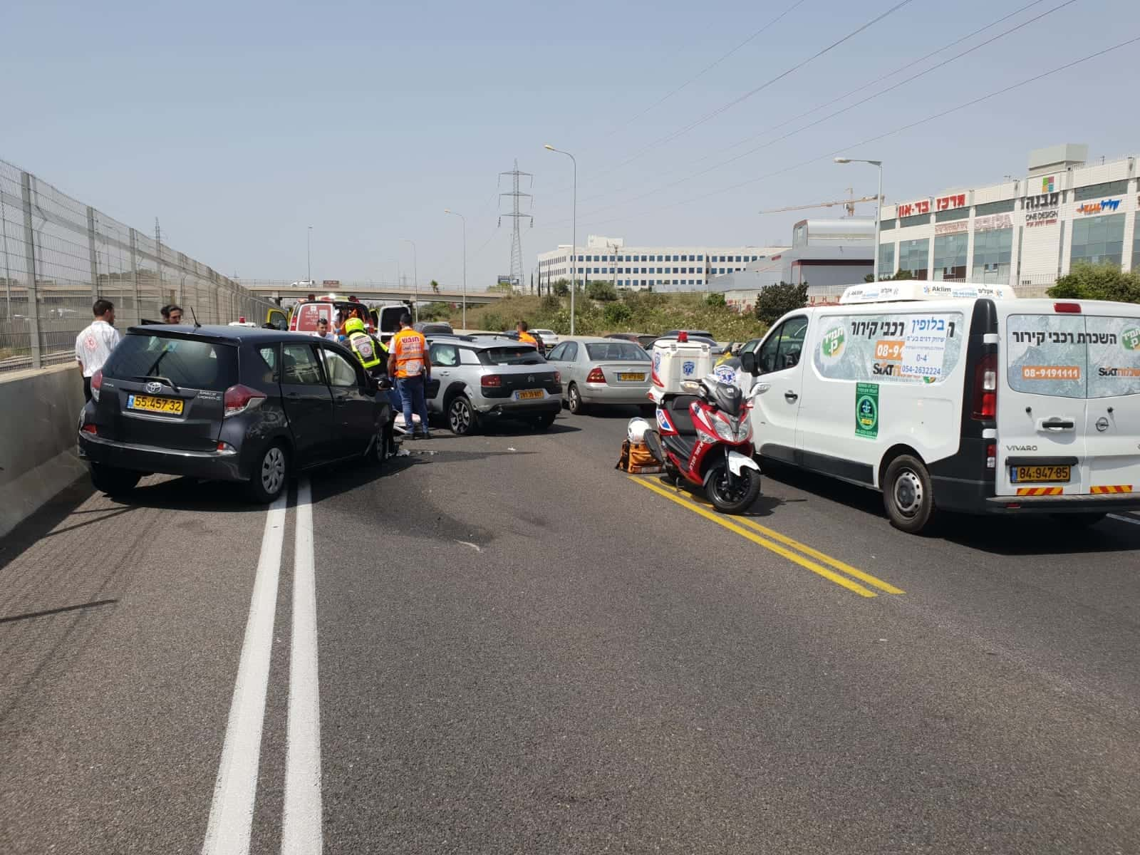תאונה היום במחלף וולפסון, צילום: דוברות איחוד הצלה